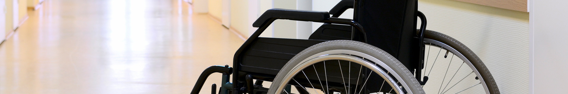wheel chair in a nursing home