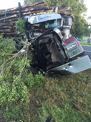 crashed tractor trailer